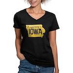 Iowa Boring Women's V-Neck Dark T-Shirt