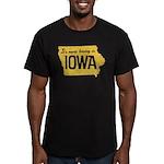 Iowa Boring Men's Fitted T-Shirt (dark)