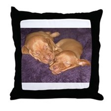 Cute Vizsla Puppies Throw Pillow