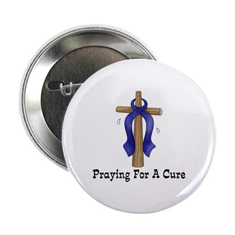 "Blue Ribbon Prayer 2.25"" Button"