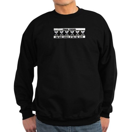 Chinese Cresteds: Punk Rocker Sweatshirt (dark)
