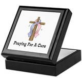 Pink & Blue Ribbon Prayer Keepsake Box