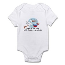 Stork Baby Russia USA Infant Bodysuit