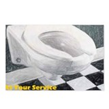 Toilet at your service Postcards (Package of 8)