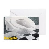 Toilet Recycle Greeting Cards (Pk of 10)