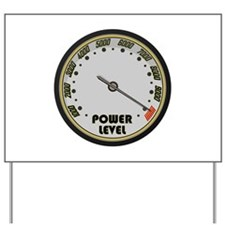 Over 9000 Power Level Meter Yard Sign