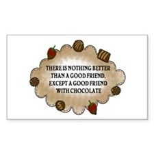 Friends With Chocolate Rectangle Sticker 50 pk)