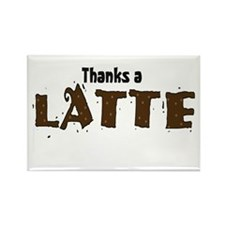 Thanks A Latte Rectangle Magnet (10 pack)