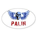 Palin Skull Oval Sticker