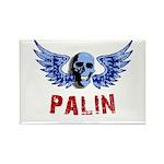 Palin Skull Rectangle Magnet