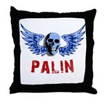 Palin Skull Throw Pillow