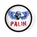 Palin Skull Wall Clock