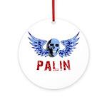 Palin Skull Ornament (Round)