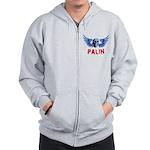Palin Skull Zip Hoodie