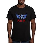 Palin Skull Men's Fitted T-Shirt (dark)