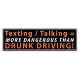 Texting and Talking = Drunk Driving Stickers