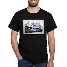 Ski Park City Black T-Shirt