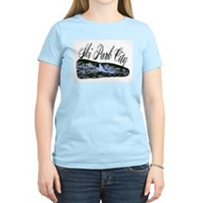 Ski Park City Women's Pink T-Shirt