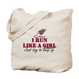 Run like a girl scr Tote Bag