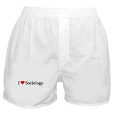 I Love Sociology Boxer Shorts
