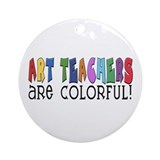Art Teachers Ornament (Round)