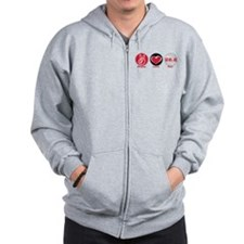 Peace Love Run 26.2 Zip Hoodie