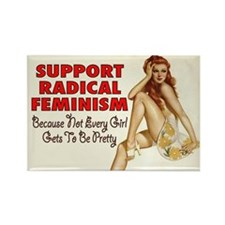 RADICAL FEMINISM Rectangle Magnet