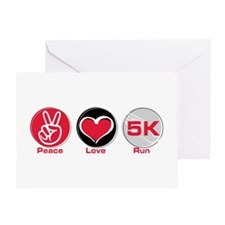 Peace Love Run 5K Greeting Card