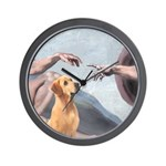 Creation/Labrador (Y) Wall Clock