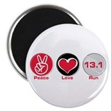 "Peace Love Run 13.1 2.25"" Magnet (100 pack)"