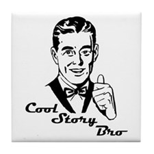 Cool Retro Story Bro Tile Coaster