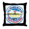 USS FRANKLIN Throw Pillow