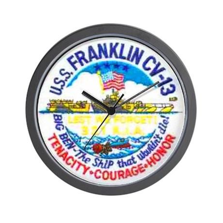 USS FRANKLIN Wall Clock