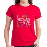 """I can't. Because..."" Women's Black T-Sh"
