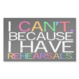 """I can't. Because..."" Decal"