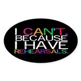 """I can't. Because..."" (multi) Decal"