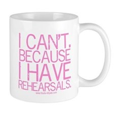 """I can't ..."" (pink) Small Mugs"