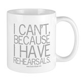 """I can't..."" (gray) Small Mug"