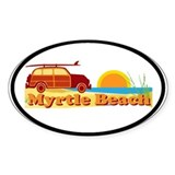 Myrtle Beach SC - Surfing Design Decal