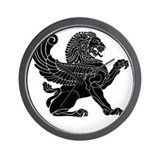 Persian Lion Wall Clock