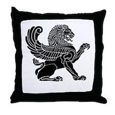 Persian Lion Throw Pillow