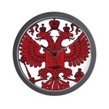 Medieval Eagle Crest Wall Clock