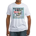The Way to a Man's Heart 1 Fitted T-Shirt