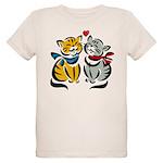Yellow Cat Loves Grey Cat Organic Kids T-Shirt