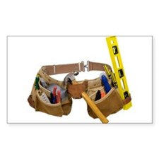 Tool belt Rectangle Sticker 10 pk)