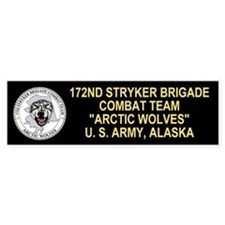 172nd Stryker Bde <BR>Arctic Wolves Bumpersticker