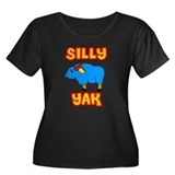 Silly Yak Celiac Women's Plus Size Scoop Neck Dark