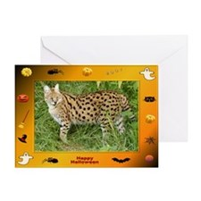 Serval Halloween Greeting Card