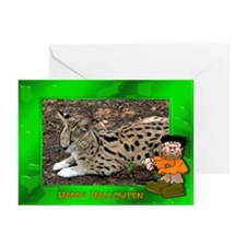 Serval Halloween Greeting Cards (Pk of 20)