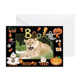 Barbary Lion Halloween Greeting Card